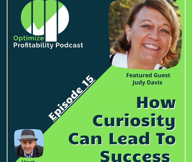 Episode 15 – How Curiosity Can Lead To Success – Optimize Profitability Podcast with Judy Davis